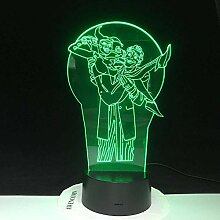 3D Illusionslampe LED Nachtlicht DC Joker & Harley