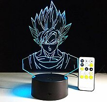 3D Illusionslampe LED Nachtlicht Dragon Ball Super