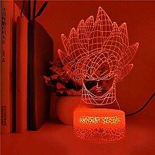 3D-Illusionslampe LED Nachtlicht Dragon Ball Z Son