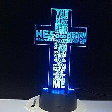 3D-Illusionslampe LED-Nachtlicht Jesus Christus