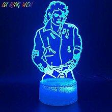 3D-Illusionslampe LED-Nachtlicht Junge Michael
