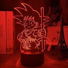 3D Illusionslampe Led Nachtlicht Nacht Anime