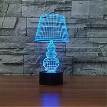 3D-Illusionslampe LED-Nachtlicht Nordic 7 Color