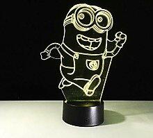 3D Illusionslampe LED Nachtlicht Schöne Minions