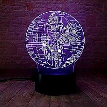 3D Illusionslampe LED NachtlichtStar Wars 7 Farben