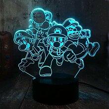 3D Illusionslampe LED NachtlichtSuper Mario 7