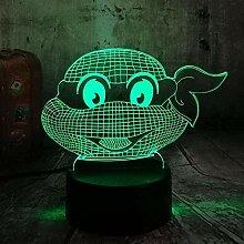 3D-Illusionslampe LED-NachtlichtTeenage Mutant