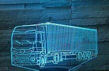 3D Illusionslampe LKW LED Schlafzimmer Dekoration