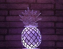 3D Illusionslampe Obst Ananas LED Schlafzimmer