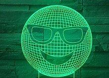 3D Illusionslampe Smiley LED