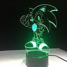 3D Illusionslampe Sonic LED Schlafzimmerdekoration