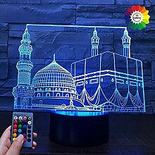 3D Islam Islamisches Schloss Lampe USB Power 7/16
