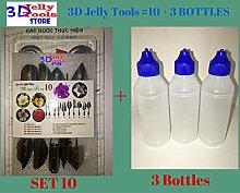 3D Jelly Kuchen Werkzeuge–Typ 10und 3Flasche 3D Jelly Tools nicht enthalten Nadel