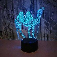 3D Kamel LED Lampe Art Deco Lampe LED Lichter