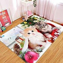 3D Katzen Geschenke 246 Rutschfest Teppich Matte