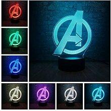 3D Kinder Nacht Lampe Marvel The Avengers Figur
