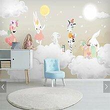 3D Kinder Schlafzimmer Kaninchen Tapete Wandbild