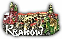 3D Krakau Polen Kühlschrankmagnet Tourist