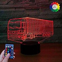 3D Kreativ Auto Lampe USB Power Fernbedienung 7/16