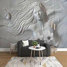 3D Kreative Geprägte Schönheit Wandkunst
