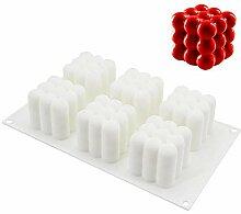 3D-Kuchenform, 6 Mulden, Diamant-Schokolade,