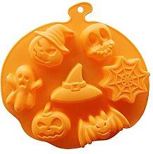 3D Kuchenform Halloween Kürbis Silikonform