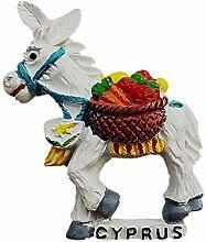 3D-Kühlschrankmagnet, Motiv: Esel von Zypern,