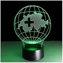 3D Lampe 7 Farbe Schweiz Karte Führte Nachtlampen