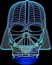 3D Lampe 7 Farbwechsel Stimmungslampe Star Wars
