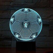 3D Lampe Acryl Lampe mit 7 Farben ändern für