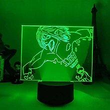 3D Lampe Anime Angriff auf Titan Eren Jäger LED