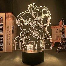 3D-Lampe Anime Attack auf Titan Mikasa Ackerman