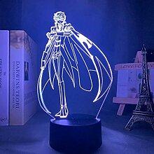 3D Lampe Anime Code Geass Suzaku Kururugi LED