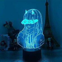 3D-Lampe Anime Darling in der FRANXX 02 Zero Two