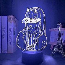 3D-Lampe Anime Darling in der Franxx Zero Two 002