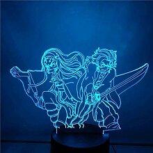 3D-Lampe Anime Demon Slayer Kamado Nezuko Figur