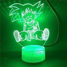 3D Lampe Anime Dragon Ball Broly visuelle Illusion