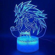3D Lampe Anime Dragon Ball Z Vegetto LED