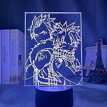 3D Lampe Anime Fairy Tail Ätherische Natsu
