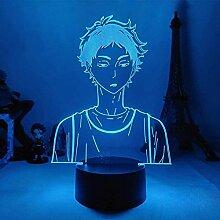 3D Lampe Anime Haikyuu Akaashi Keiji LED
