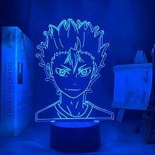 3d Lampe Anime Haikyuu Nishinoya Yuu Figur für