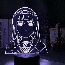 3D-Lampe Anime LED Nachtlicht Naruto Hinata Hyuga