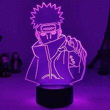 3D Lampe Anime Naruto Pain LED Nachtlicht mit
