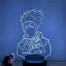 3D Lampe Anime Naruto Sasuke LED Nachtlicht Action