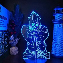 3D Lampe Anime Naruto Sasuke Uchiha LED Nachtlicht