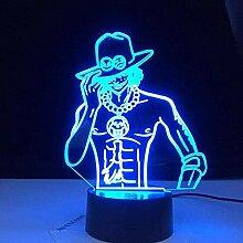 3D Lampe Anime One Piece Portgas · D · Ace Figur