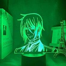 3D Lampe Anime Schwarz Butler Sebastian Michaelis