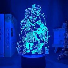 3d Lampe Anime Toilette gebunden Hanako Kun Licht