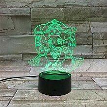 3d Lampe Batteriebetriebener Hinduismus Ganesha