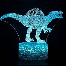 3D Lampe Dinosaurier-Thema LED-Nachtlicht 7
